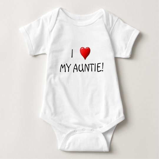 I Heart My Auntie! Baby Bodysuit