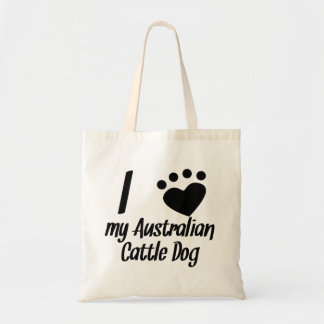 I Heart My Australian Cattle Dog Tote Bags