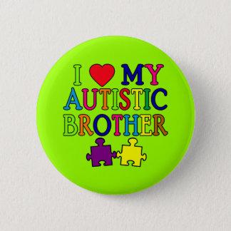I Heart My Autistic Brother 6 Cm Round Badge