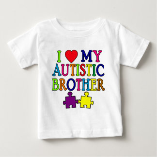 I Heart My Autistic Brother Baby T-Shirt