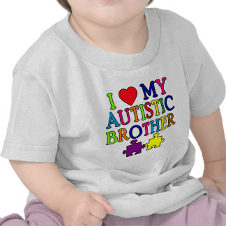I Heart My Autistic Brother Tees