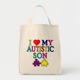 I Heart My Autistic Son Tote Bag