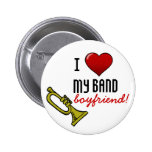 I Heart My Band Boyfriend Pinback Buttons
