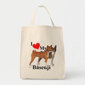 I Heart My Basenji Bag