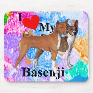 I Heart My Basenji Mousepads