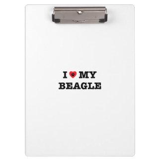 I Heart My Beagle Clipboard