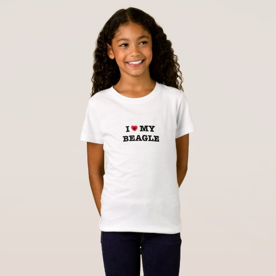 I Heart My Beagle Kids T-Shirt