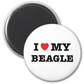 I Heart My Beagle Magnet