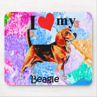 I Heart My Beagle Mousepad