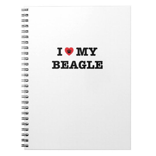 I Heart My Beagle Spiral Notebook