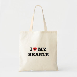 I Heart My Beagle Tote Bag