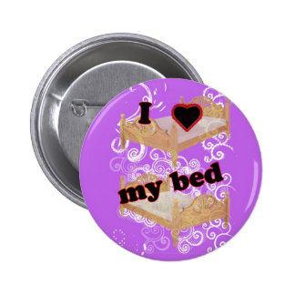 I Heart My Bed Pinback Button