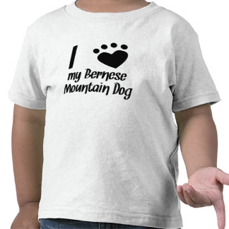 I Heart My Bernese Mountain Dog Tee Shirt