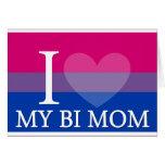 I Heart My Bi Mom Greeting Cards