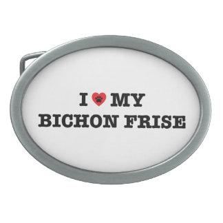 I Heart My Bichon Frise Belt Buckle