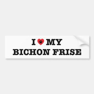 I Heart My Bichon Frise Bumper Sticker