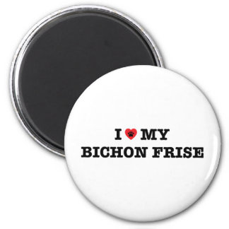 I Heart My Bichon Frise Fridge Magnet