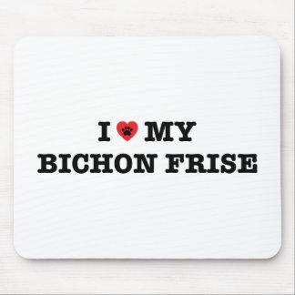 I Heart My Bichon Frise Mouse Pad