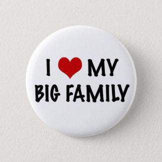 I Heart My Big Family 6 Cm Round Badge