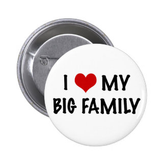 I Heart My Big Family 6 Cm Round Badge