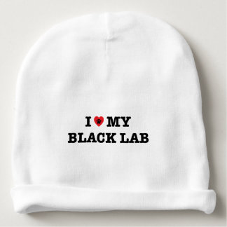 I Heart My Black Lab Baby Beanie