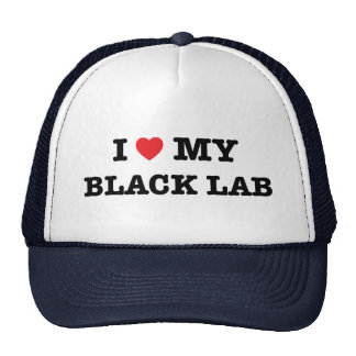 I Heart My Black Lab Trucker Hat
