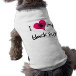 I heart my Black Pug Doggie Tshirt