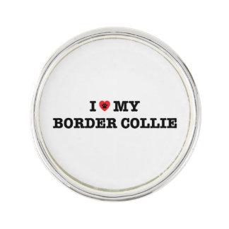 I Heart My Border Collie Lapel Pin