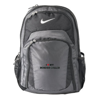I Heart My Border Collie Nike Backpack