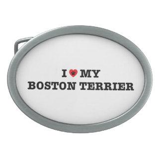 I Heart My Boston Terrier Belt Buckle