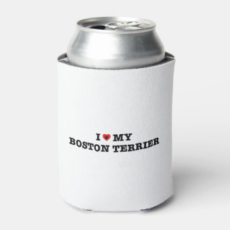 I Heart My Boston Terrier Can Cooler