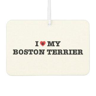 I Heart My Boston Terrier Car Air Freshener