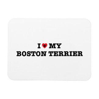I Heart My Boston Terrier Flexible Magnet
