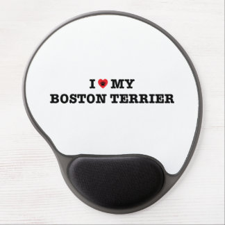 I Heart My Boston Terrier Gel Mousepad Gel Mouse Mat