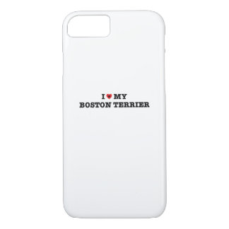 I Heart My Boston Terrier iPhone 7 Case