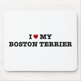 I Heart My Boston Terrier Mousepad