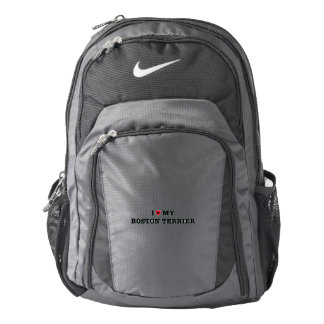 I Heart My Boston Terrier Nike Backpack