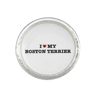 I Heart My Boston Terrier Ring