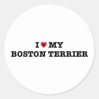 I Heart My Boston Terrier Sticker