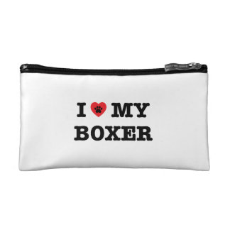 I Heart My Boxer Cosmetic Bag
