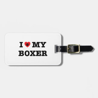I Heart My Boxer Luggage Tag