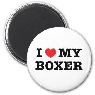 I Heart My Boxer Magnet