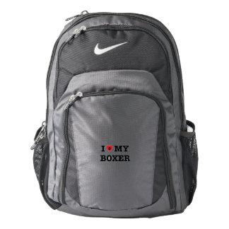 I Heart My Boxer Nike Backpack