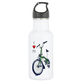 I heart my Brompton (green) 532 Ml Water Bottle