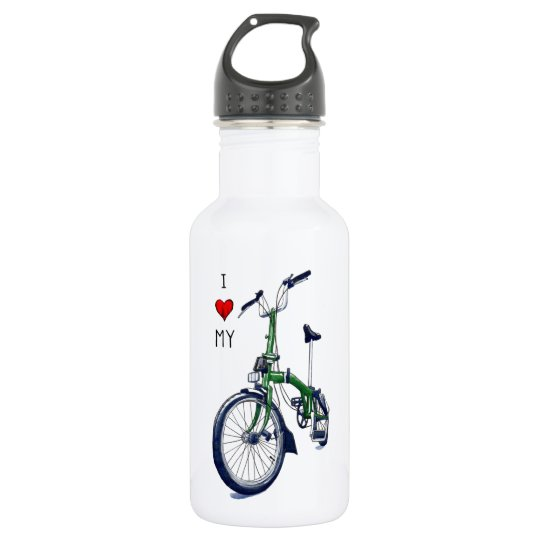 I heart my Brompton (green) 532 Ml Water