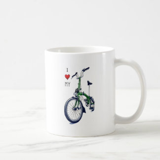 I heart my Brompton (green) Coffee Mug