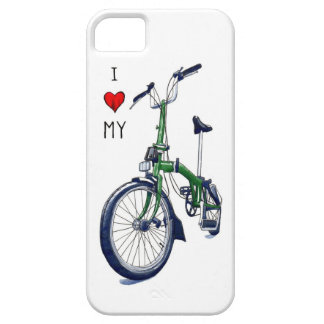 I heart my Brompton (green) iPhone 5 Case