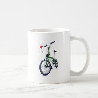 I heart my Brompton (green) Mugs