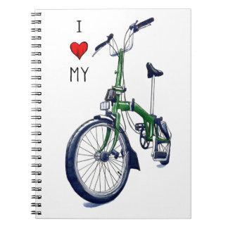 I heart my Brompton (green) Spiral Notebook