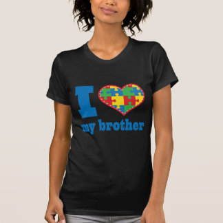 I Heart My Brother Autism Puzzle Piece T Shirt